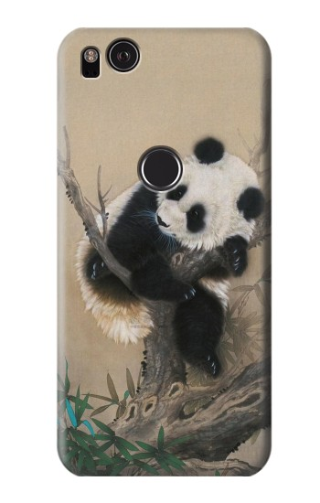 Printed Panda Fluffy Art Painting HTC One S Case