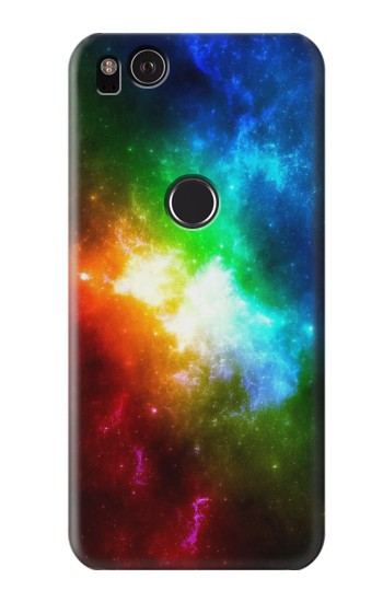 Printed Colorful Rainbow Space Galaxy HTC One S Case