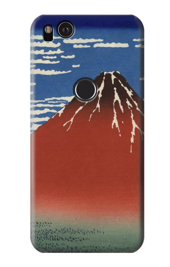 Printed Katsushika Hokusai Red Fuji HTC One S Case