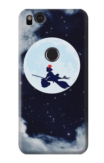 Printed Kiki Delivery Service Little Witch Kiki Moon HTC One S Case