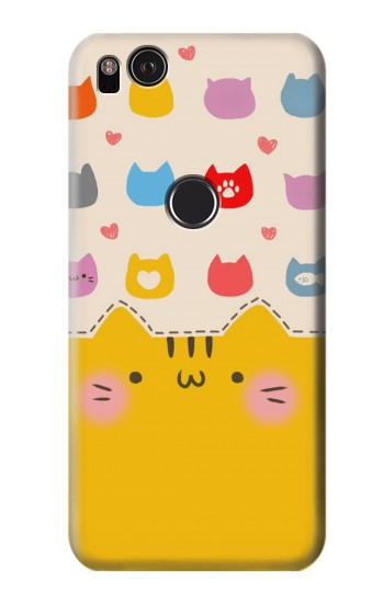 Printed Cute Cat Pattern HTC One S Case