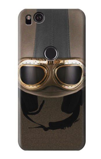 Printed Vintage Brown Goggles Helmet HTC One S Case