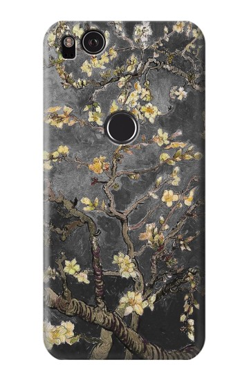 Printed Black Blossoming Almond Tree Van Gogh HTC One S Case