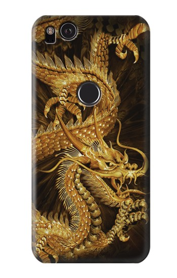 Printed Chinese Gold Dragon Printed HTC One S Case