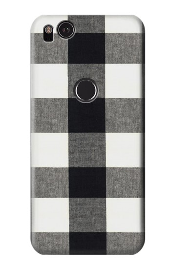 Printed Black and White Buffalo Check Pattern HTC One S Case