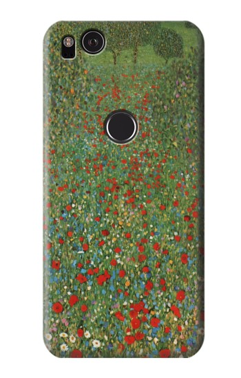 Printed Gustav Klimt Poppy Field HTC One S Case