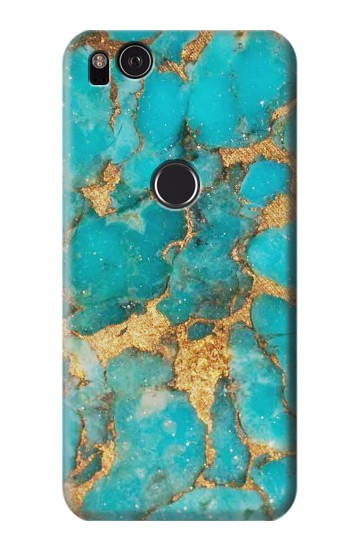 Printed Aqua Turquoise Stone HTC One S Case