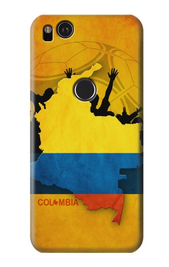 Printed Colombia Football Flag HTC One S Case