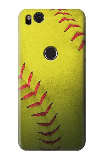 Printed Yellow Softball Ball HTC One S Case