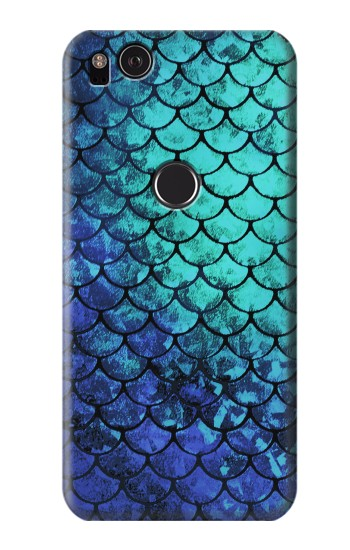 Printed Green Mermaid Fish Scale HTC One S Case