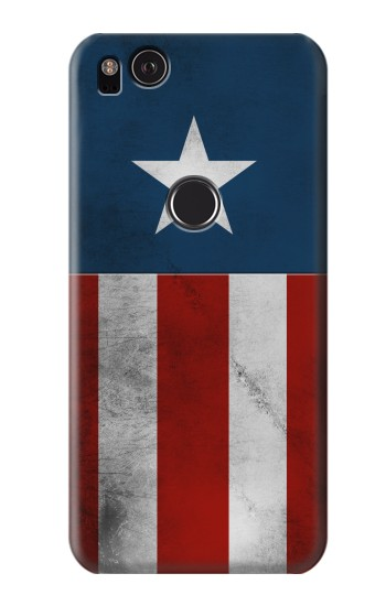Printed Captain Star Flag of America HTC One S Case