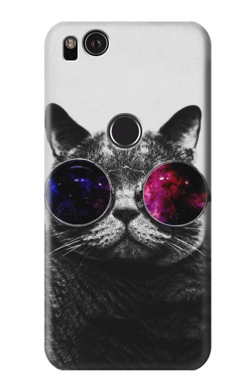 Printed Cool Cat Glasses HTC One S Case
