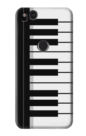 Printed Black and White Piano Keyboard HTC One S Case