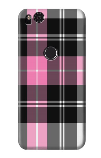 Printed Pink Plaid Pattern HTC One S Case