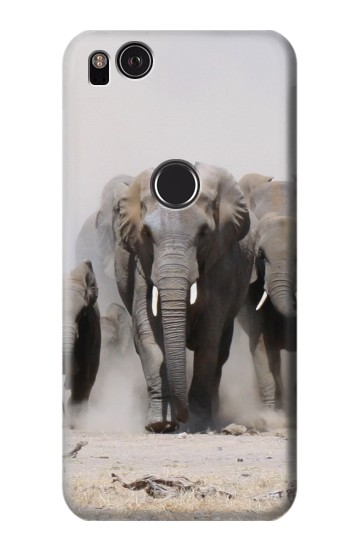 Printed African Elephant HTC One S Case