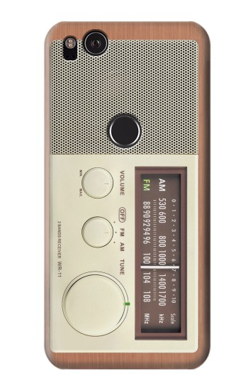 Printed FM AM Wooden Receiver Graphic HTC One S Case