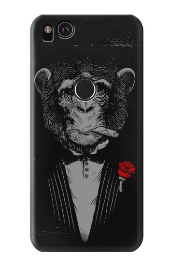 Printed Funny Monkey God Father HTC One S Case