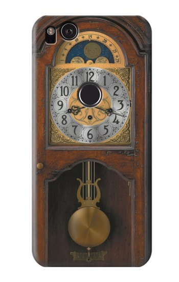 Printed Grandfather Clock Antique Wall Clock HTC One S Case