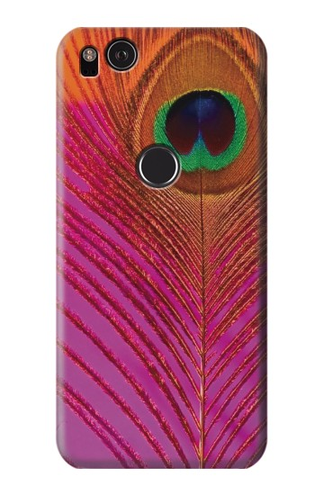 Printed Pink Peacock Feather HTC One S Case