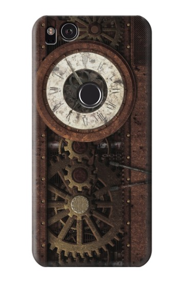 Printed Steampunk Clock Gears HTC One S Case