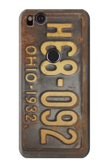 Printed Vintage Car License Plate HTC One S Case