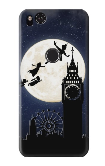 Printed Peter Pan Fly Fullmoon Night HTC One S Case