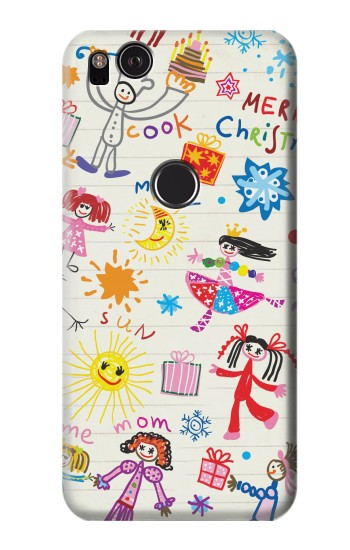 Printed Kids Drawing HTC One S Case