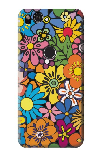 Printed Colorful Flowers Pattern HTC One S Case