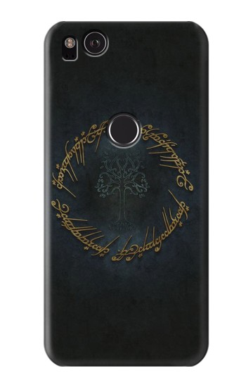 Printed Lord of The Rings Ring Elf Writing HTC One S Case