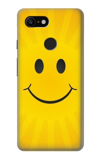 Printed Yellow Sun Smile Google Pixel 3 Case