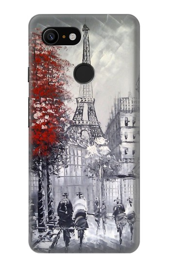 Printed Eiffel Painting of Paris Google Pixel 3 Case
