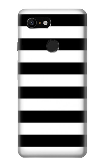 Printed Black and White Striped Google Pixel 3 Case