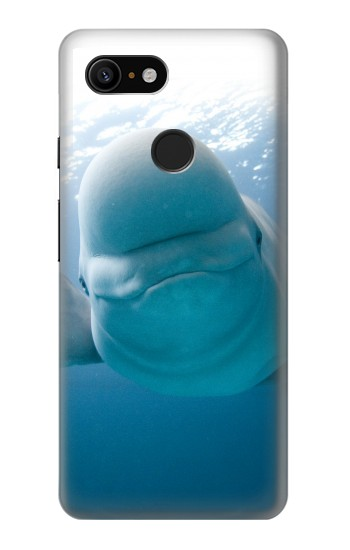 Printed Beluga Whale Smile Whale Google Pixel 3 Case