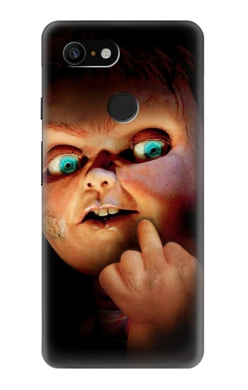 Printed Chucky Middle Finger Google Pixel 3 Case