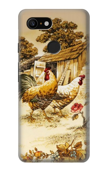 Printed French Country Chicken Google Pixel 3 Case