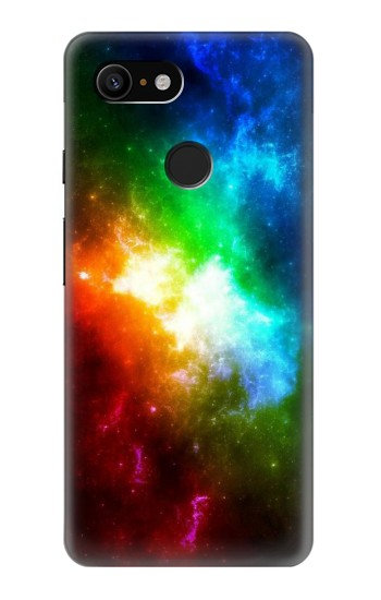 Printed Colorful Rainbow Space Galaxy Google Pixel 3 Case