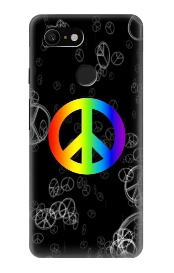 Printed Peace Sign Google Pixel 3 Case