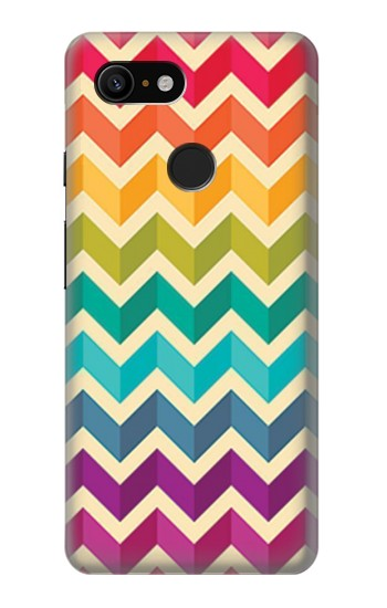Printed Rainbow Colorful Shavron Zig Zag Pattern Google Pixel 3 Case