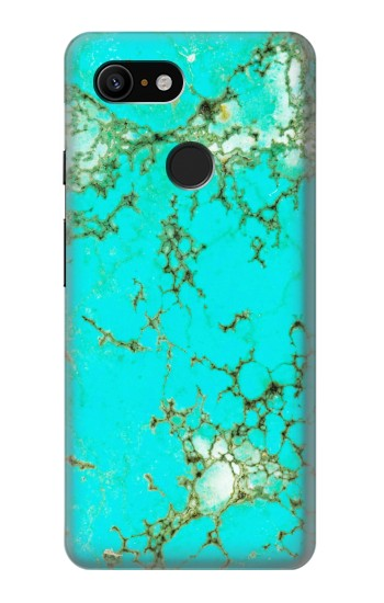 Printed Turquoise Gemstone Texture Graphic Printed Google Pixel 3 Case