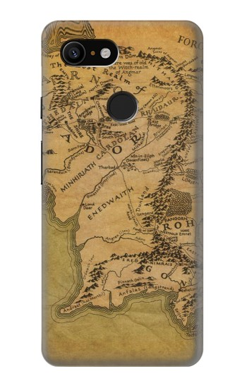 Printed The Lord Of The Rings Middle Earth Map Google Pixel 3 Case