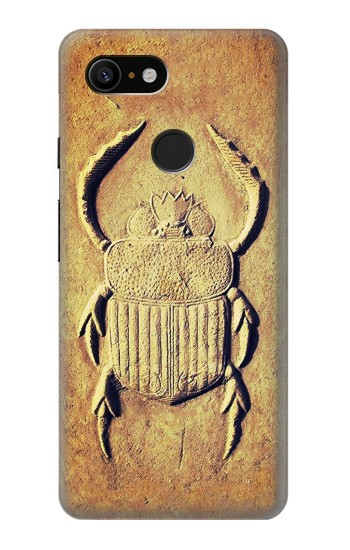 Printed Egyptian Scarab Beetle Graphic Printed Google Pixel 3 Case