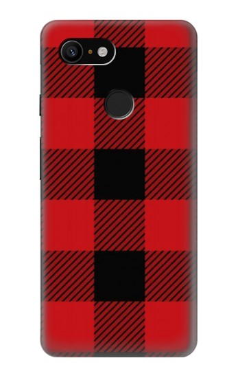 Printed Red Buffalo Check Pattern Google Pixel 3 Case