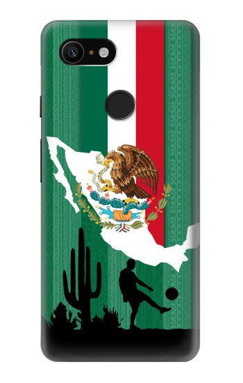 Printed Mexico Football Flag Google Pixel 3 Case