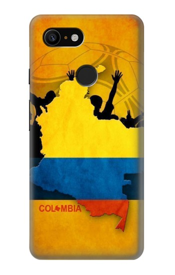 Printed Colombia Football Flag Google Pixel 3 Case