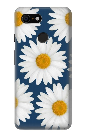 Printed Daisy Blue Google Pixel 3 Case