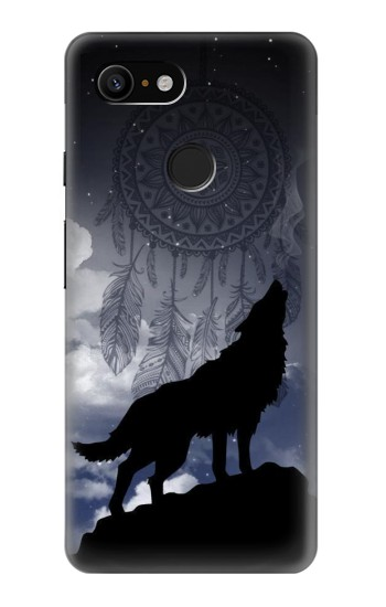 Printed Dream Catcher Wolf Howling Google Pixel 3 Case