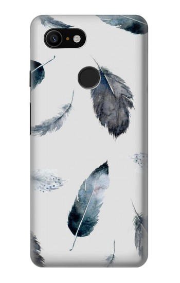 Printed Feather Paint Pattern Google Pixel 3 Case