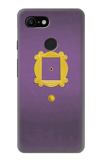 Printed Friends Purple Door Minimalist Google Pixel 3 Case