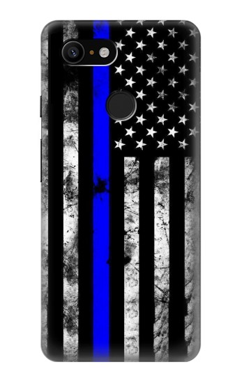 Printed Thin Blue Line USA Google Pixel 3 Case