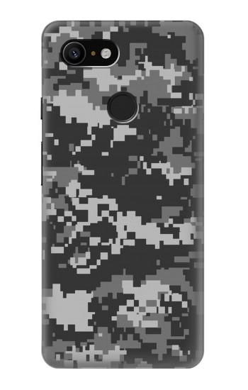 Printed Urban Black Camouflage Google Pixel 3 Case